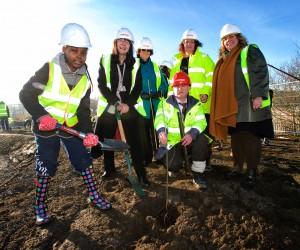Erith Quarry tree planting day Jan 17th 2017