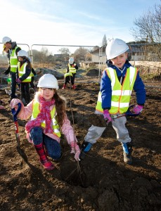 Erith Quarry tree planting day Jan 17th 2017